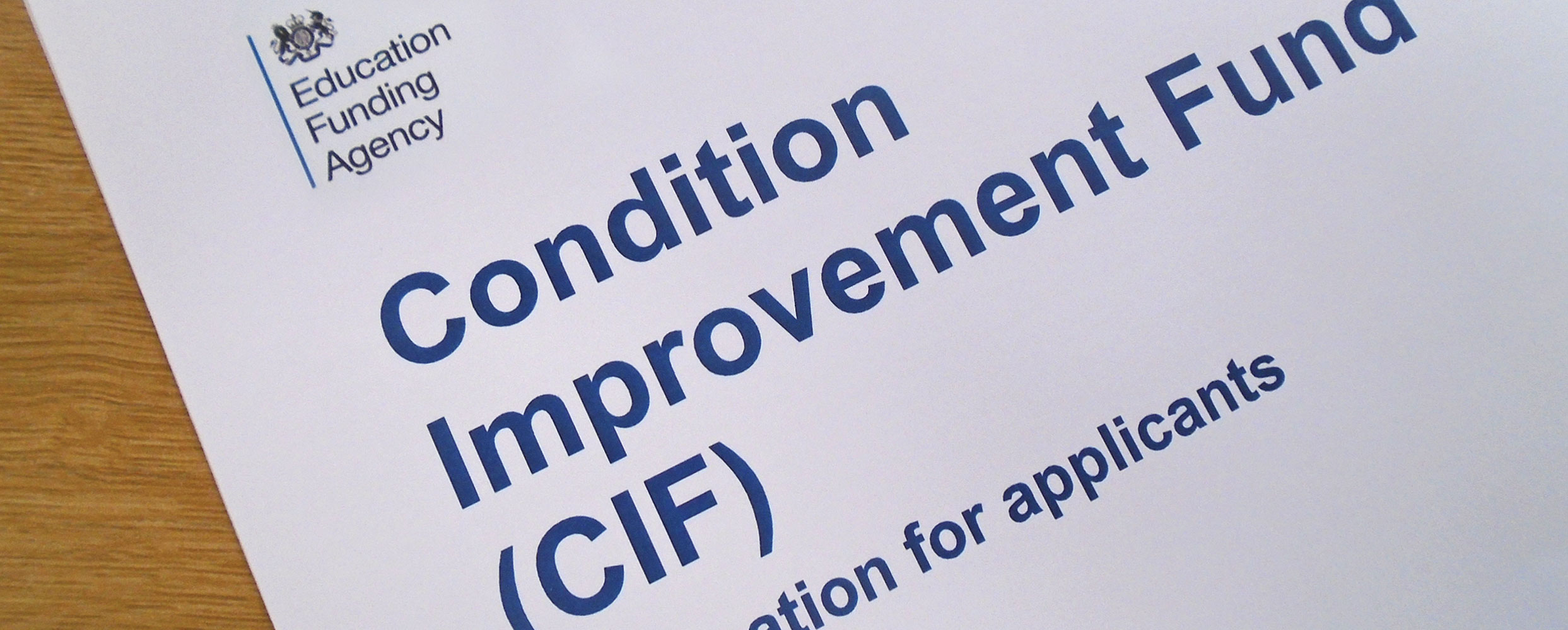 Grant Funding Condition Improvement Fund (CIF)
